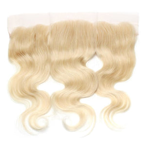Brazilian Blonde Body Wave Virgin Human Hair Closure Sold by Soie Virgin Hair Extensions In Atlanta, Georgia. Call 404-669-6832 or visit https://SoieHair.com