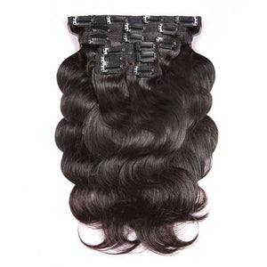 I-Body Body Wave Clip In Extensions Kuthengiswa Ngaphandle - Izandiso Zeenwele