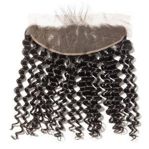 Brazilian Deep Wave Hair Frontals - Brazilian Virgin Hair Extensions
