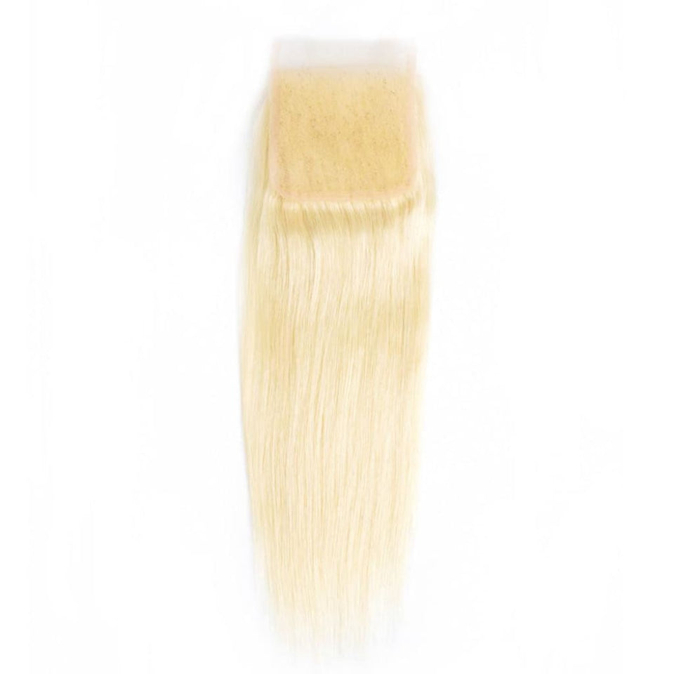 Braziliaanse blonde rechte maagdelijke haarsluitingen door Soie Virgin Hair Extensions in Atlanta. Bel 404-669-6832