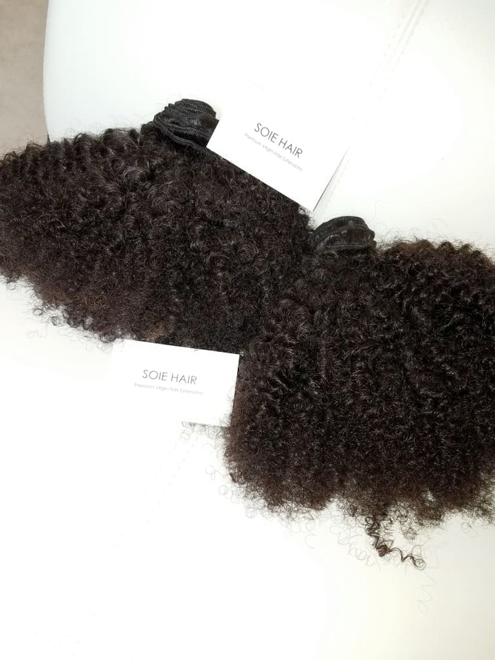 Hair Bundle Deal: (10A Quality) Afro Kinky Curly Virgin Human Hair Extensions - Hair Extensions