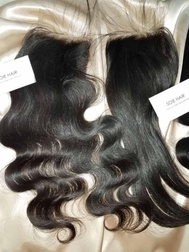 Kesepakatan Bundel Rambut: 12A Body Wave Raw Indian / Mink Virgin Human Hair Extensions - Hair Extensions