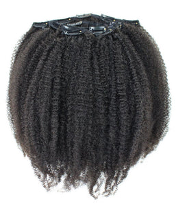 Natural Afro Kinky Hair Clip In Extensions - Hair Extensions