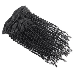 Natural Kinky Coily Clip In Extensions - Hair Extensions