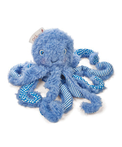 "Ocho - 9"" blue plush octopus"
