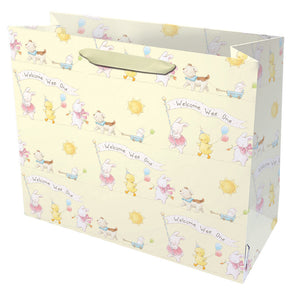 Welcome Wee One Gift Bag - blue