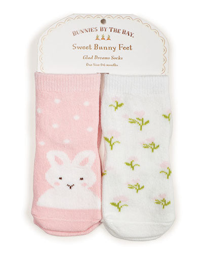 Bunnies Do Delight Socks - 2 pair 0-6 mo.