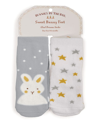 Glad Dreams Socks - 2 pair 0-6 months