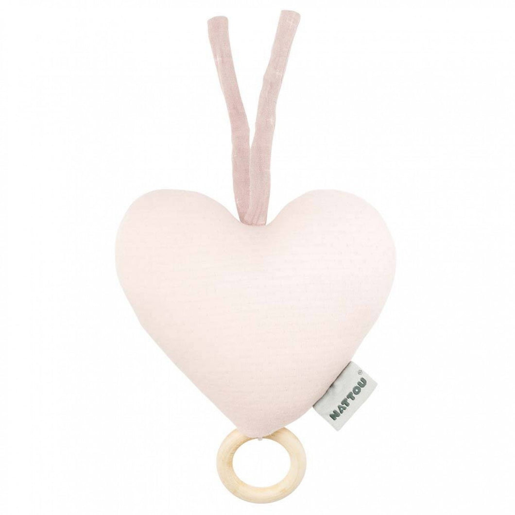 Nattou Musical Pure Cotton Heart Pink