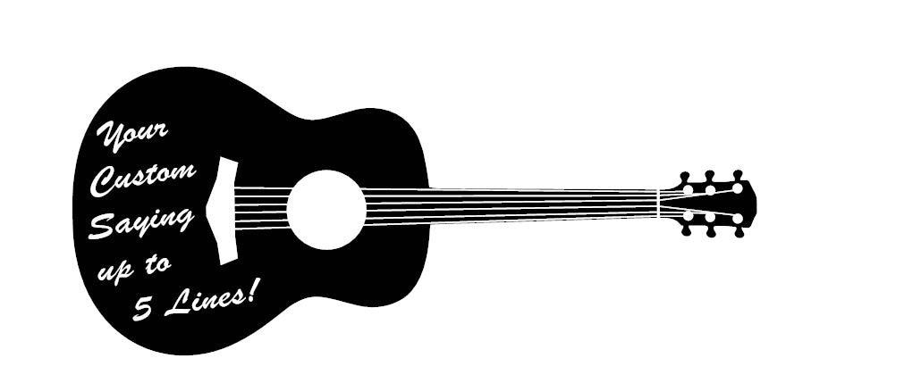 Custom Acoustic Guitar Wall Art Decal