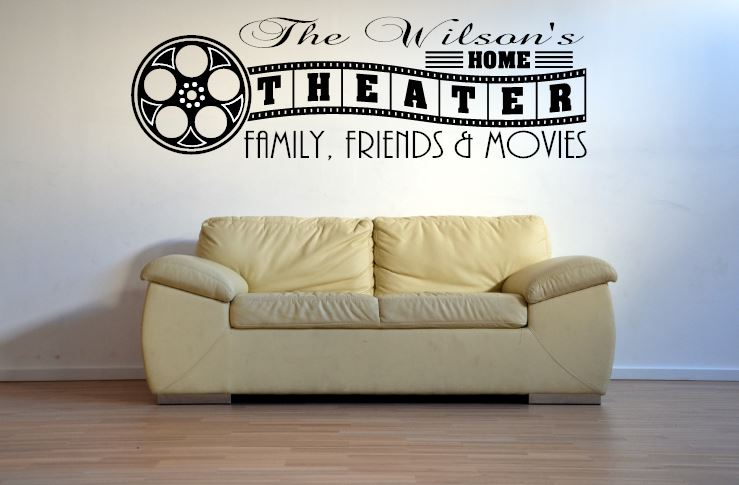 Custom Home Theater / Theatre / Cinema Sign Film Reel Wall Art ...