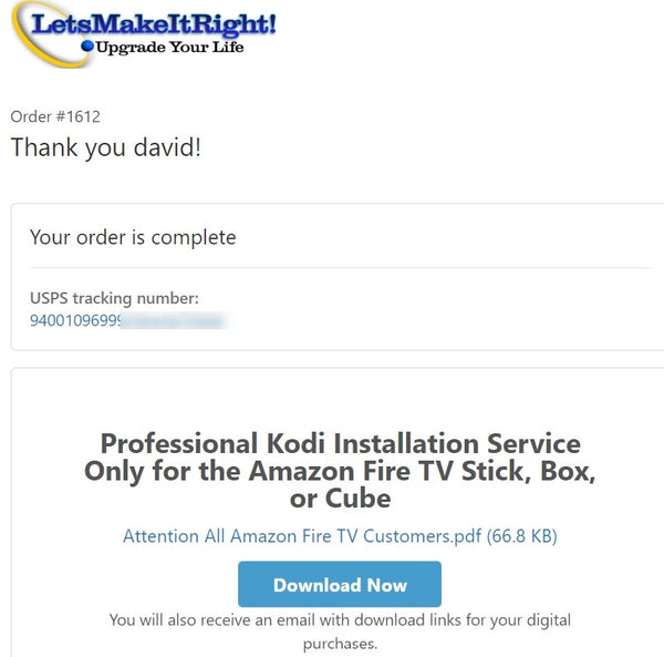 Professional Kodi Installation Service Only for the Amazon