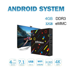 H96 Max 4K Ultra HD Android TV Box 32GB
