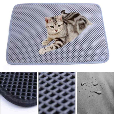Double layered cat litter mat, double layer cat litter mat, DOUBLE layer waterproof cat litter mat double layer waterproof pet cat litter mat| DAILY DEAL ME