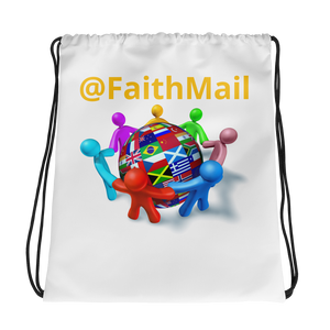 FaithMail #1 - Drawstring bag (White)