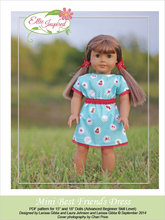 "Best Friends Dress by Ellie Inspired (Doll 15"" & 18"")"