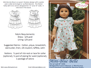 "Blue Belle by Ellie Inspired (Doll 15"" & 18"")"