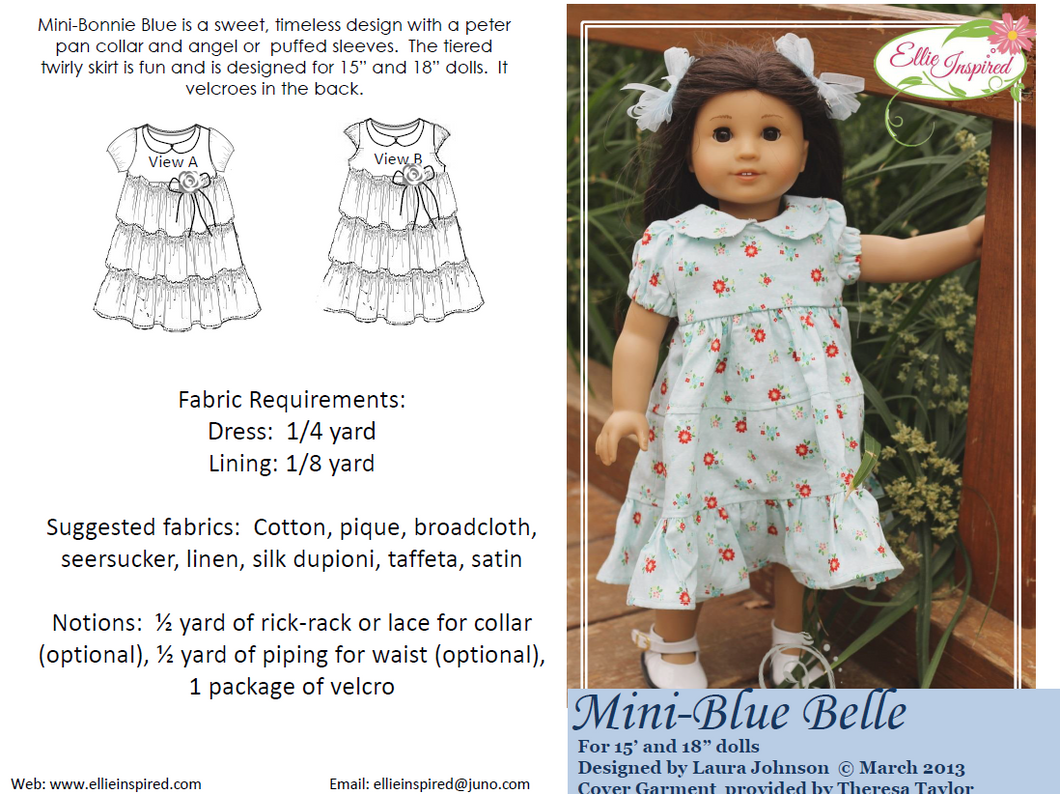 Blue Belle by Ellie Inspired (Doll 15