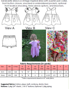Sandcastle Dress by Ellie Inspired (Girls NB - 5)