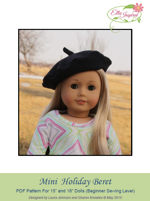 Holiday Beret & Muff by Ellie Inspired (Doll 15