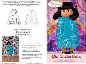 "Garden Party Dress by Ellie Inspired (Doll 15"" & 18"")"