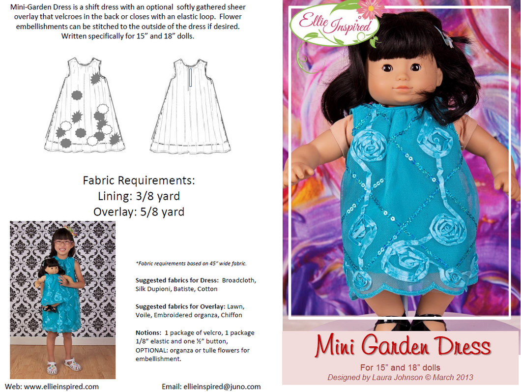 Garden Party Dress by Ellie Inspired (Doll 15
