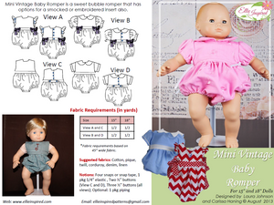 "Vintage Baby by Ellie Inspired (Doll 15"" & 18"")"