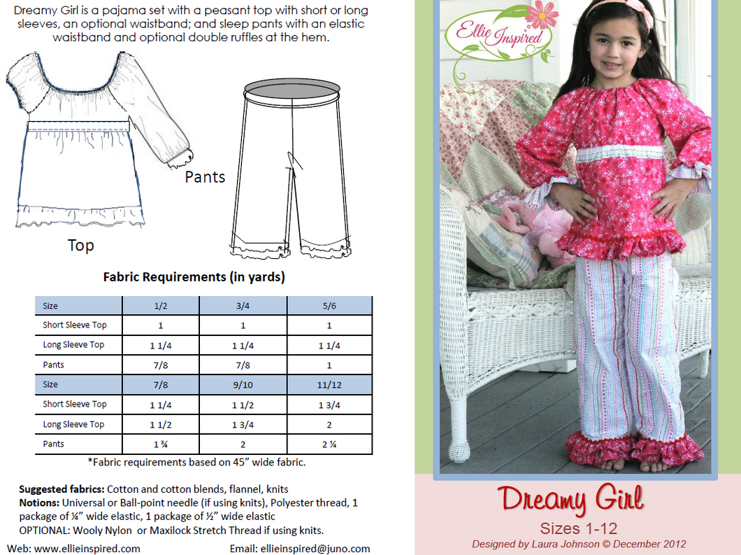 Dreamy Girl by Ellie Inspired (Girls 1 - 12)