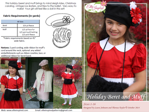 Holiday Beret & Muff by Ellie Inspired (Girls 1 - 16)