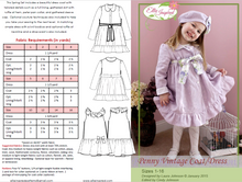 Penny Vintage Dress Coat by Ellie Inspired (Girls 1 - 16)