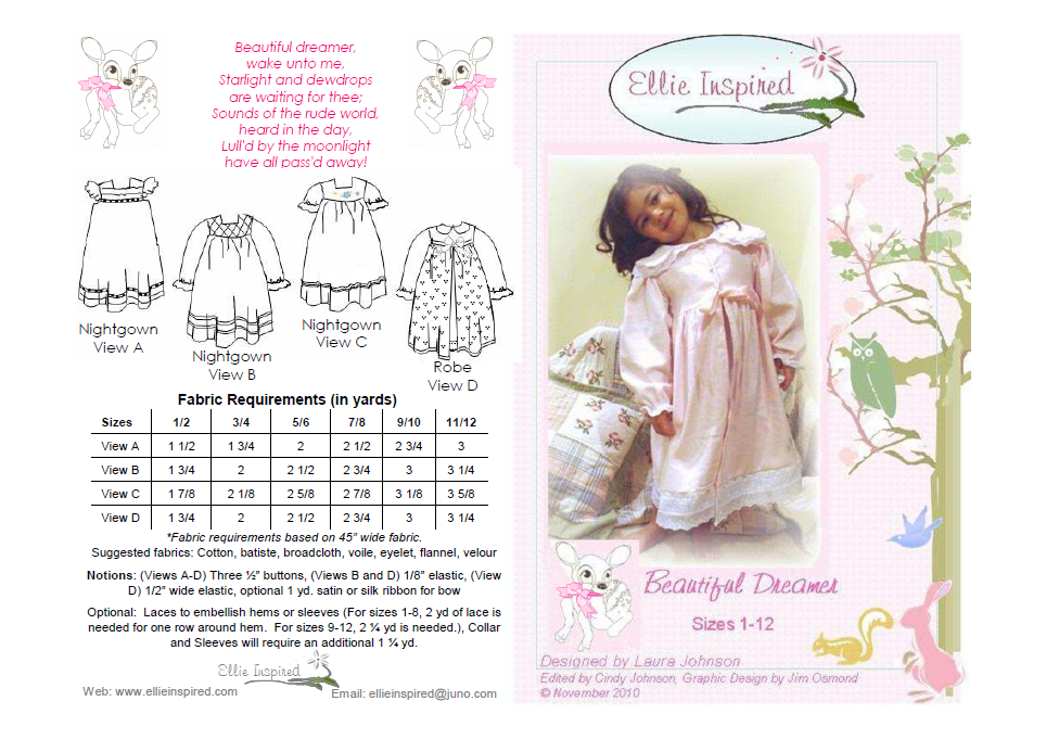 Beautiful Dreamer by Ellie Inspired (Girls 1 - 12)