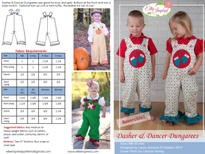 Dasher & Dancer Dungarees by Ellie Inspired (Baby NB - 36mo)