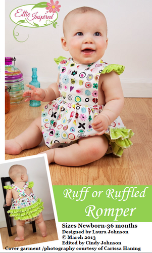 Ruff or Rumpled Romper by Ellie Inspired (NB - 36mo)