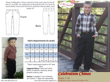 Celebration Chinos by Ellie Inspired (Boys 1 - 16)