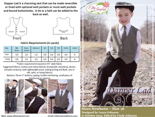 Dapper Lad by Ellie Inspired (Boys NB - 16)