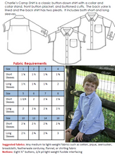 Charlie's Camp Shirt by Ellie Inspired (Kids 1 - 16)