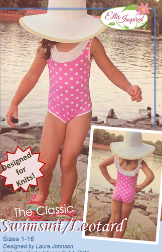 Classic Swimsuit/Leotard by Ellie Inspired (Girls 1 - 16)