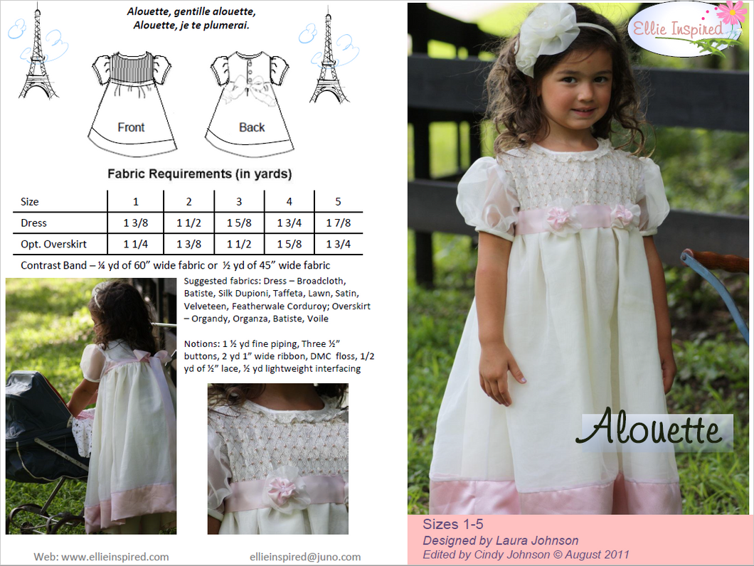 Alouette by Ellie Inspired (Girls 1 - 5)