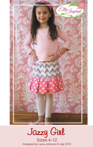 Jazzy Skirt by Ellie Inspired (Girls 4 - 12)