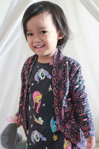 Coffee & Tea Cardigan - Kids (9m - 18) w/ Free Doll Sizes