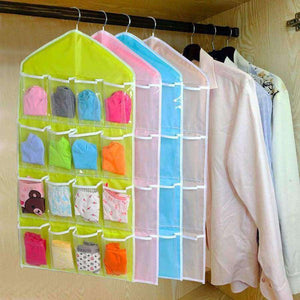 16 Pockets Clear Hanging Bags