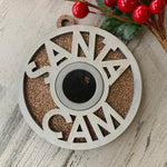 Load image into Gallery viewer, Santa Cam Glitter Ornament
