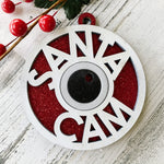 Load image into Gallery viewer, red glitter santa cam
