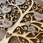 Load image into Gallery viewer, round wooden family tree sign