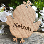 Load image into Gallery viewer, MDF wood easter basket tag