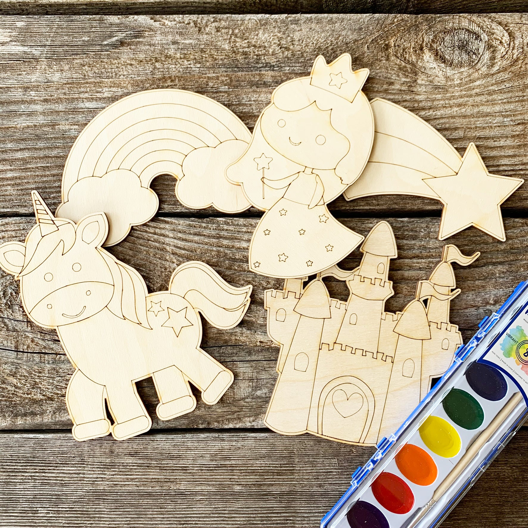 Unicorn and princess painting kit