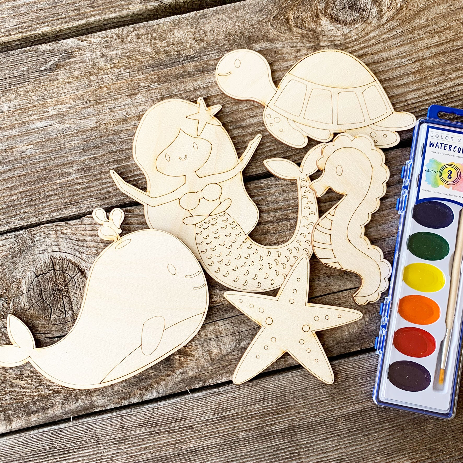 Mermaid painting kit