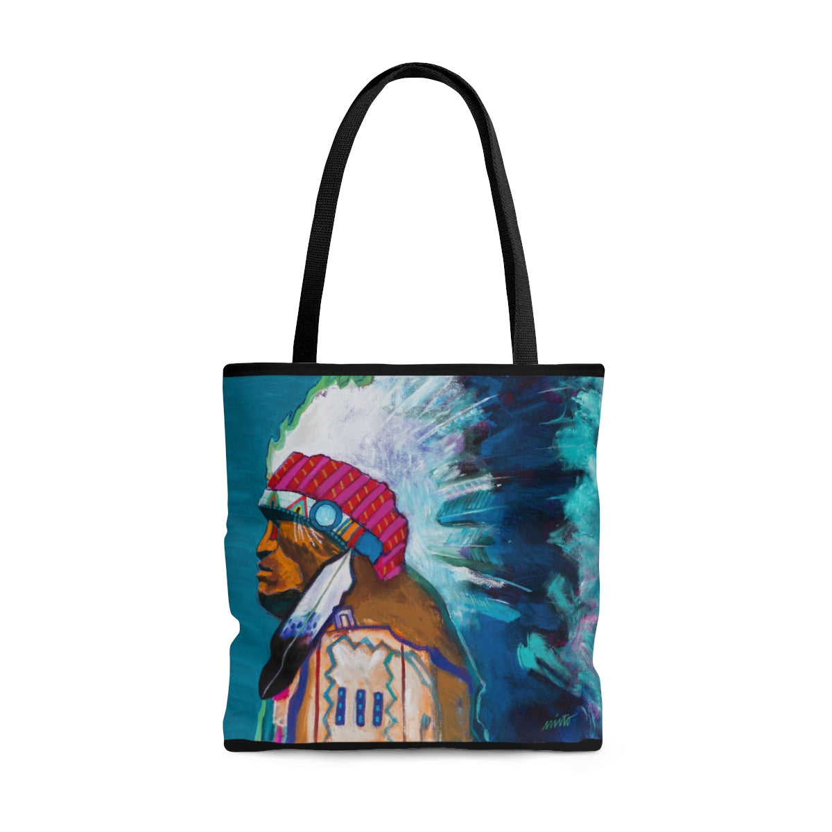 """Chief Iron Tail"" Tote Bag"