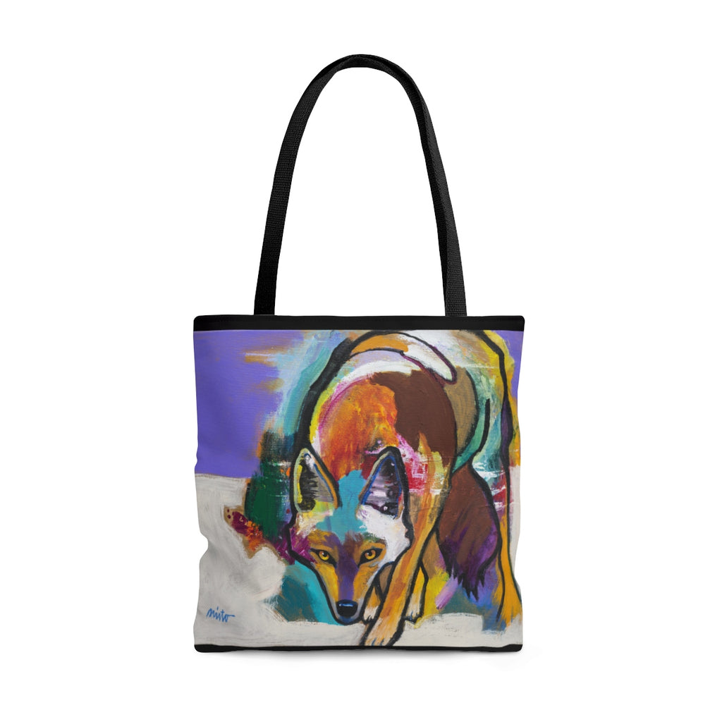 """Approaching Coyote"" Tote Bag"