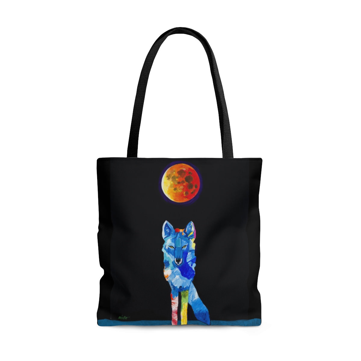 """Coyote In Tune with the Cosmos"" Tote Bag"